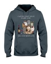 A woman Need Cats Hooded Sweatshirt thumbnail