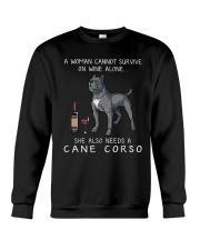 Woman Need Cane Corso Crewneck Sweatshirt thumbnail