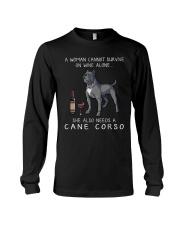 Woman Need Cane Corso Long Sleeve Tee thumbnail
