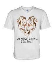 Giraffes Life V-Neck T-Shirt thumbnail
