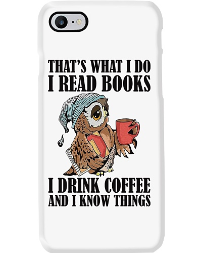 Owl i Read Books i Drink Coffee