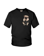 Pug In Pocket Youth T-Shirt thumbnail