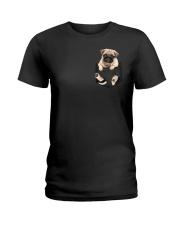 Pug In Pocket Ladies T-Shirt thumbnail