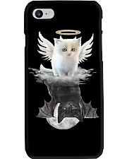 Cat ANGEL And  DEVIL Phone Case tile