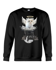 Cat ANGEL And  DEVIL Crewneck Sweatshirt thumbnail