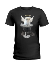 Cat ANGEL And  DEVIL Ladies T-Shirt thumbnail