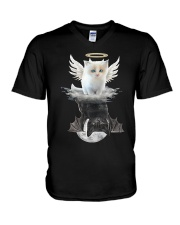 Cat ANGEL And  DEVIL V-Neck T-Shirt thumbnail