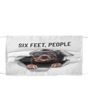 Rottweiler Six Feet  Cloth face mask front