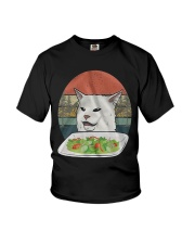 Cat At Dinner Youth T-Shirt tile