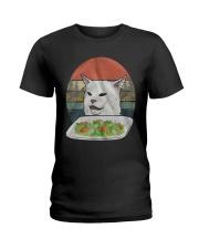 Cat At Dinner Ladies T-Shirt thumbnail