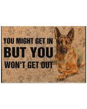 """German Shepherd you might get in Doormat 22.5"""" x 15""""  front"""