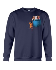 Pitbulls in Pocket  Crewneck Sweatshirt thumbnail