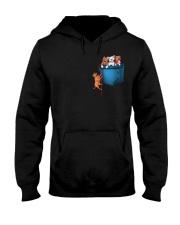 Pitbulls in Pocket  Hooded Sweatshirt thumbnail