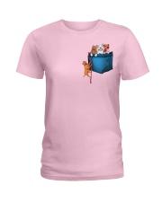 Pitbulls in Pocket  Ladies T-Shirt thumbnail