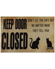 """Cat Keep Door Doormat 22.5"""" x 15""""  front"""