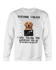 Golden Retriever Stalker Crewneck Sweatshirt thumbnail