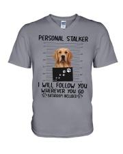 Golden Retriever Stalker V-Neck T-Shirt thumbnail
