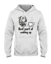 Rottweiler Best Part Hooded Sweatshirt thumbnail