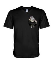 Owl Pocket V-Neck T-Shirt thumbnail