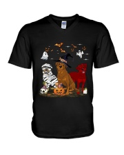 Rottweiler Halloween is Coming V-Neck T-Shirt thumbnail