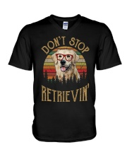 Dont Stop Retrievin V-Neck T-Shirt thumbnail