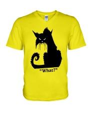 Cat What V-Neck T-Shirt thumbnail