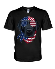 American Vibes Labrador V-Neck T-Shirt thumbnail