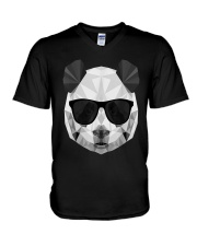 PANDA POLYGONAL  V-Neck T-Shirt tile