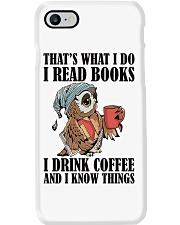 Owl i Read Books i Drink Coffee  Phone Case thumbnail