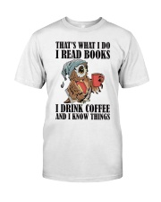Owl i Read Books i Drink Coffee  Classic T-Shirt thumbnail