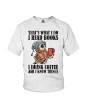 Owl i Read Books i Drink Coffee  Youth T-Shirt thumbnail