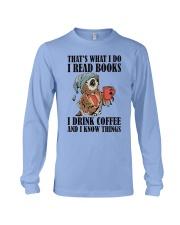 Owl i Read Books i Drink Coffee  Long Sleeve Tee thumbnail