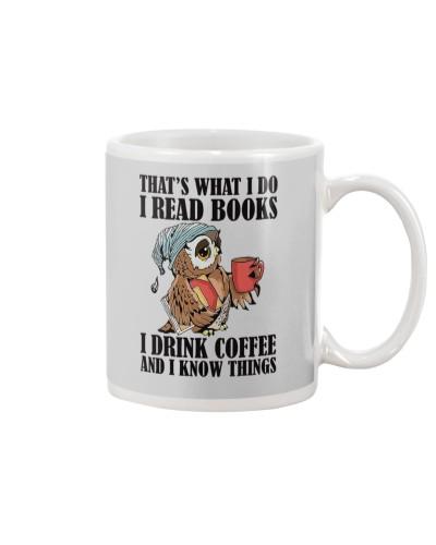 Owl i Read Books i Drink Coffee