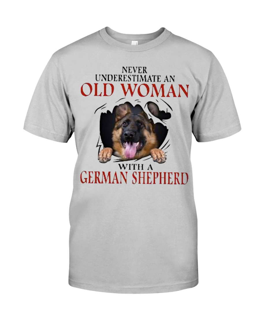 Old Women With Gsd Classic T-Shirt