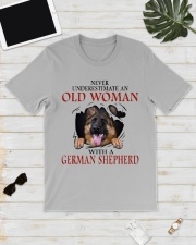 Old Women With Gsd Classic T-Shirt lifestyle-mens-crewneck-front-17