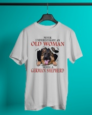 Old Women With Gsd Classic T-Shirt lifestyle-mens-crewneck-front-3