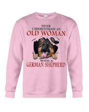 Old Women With Gsd Crewneck Sweatshirt thumbnail