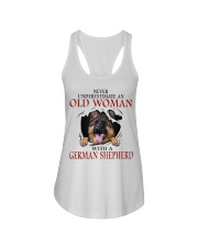 Old Women With Gsd Ladies Flowy Tank thumbnail