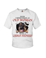 Old Women With Gsd Youth T-Shirt thumbnail