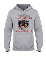 Old Women With Gsd Hooded Sweatshirt thumbnail