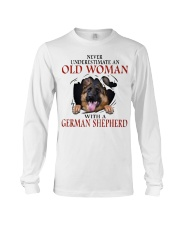 Old Women With Gsd Long Sleeve Tee thumbnail