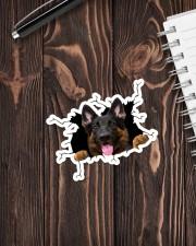 German Shepherd Crack  Sticker - Single (Vertical) aos-sticker-single-vertical-lifestyle-front-05