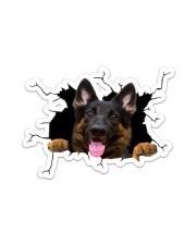 German Shepherd Crack  Sticker - Single (Vertical) front