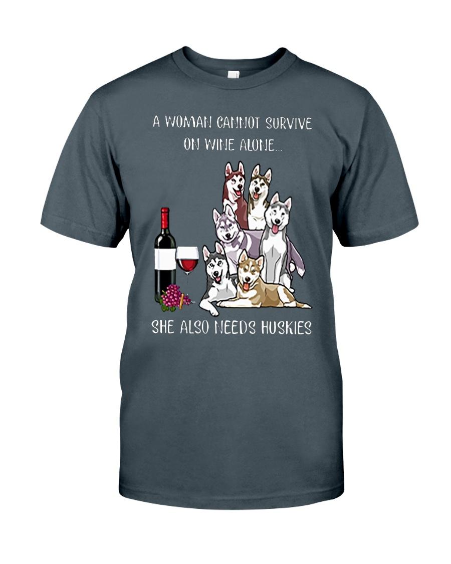Woman Needs a Husky Classic T-Shirt