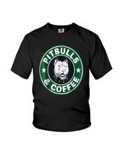Pitbull Coffee Youth T-Shirt thumbnail