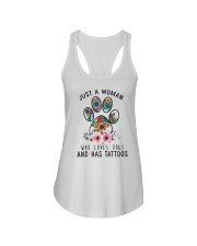 Dogs  and Tattoos Ladies Flowy Tank thumbnail