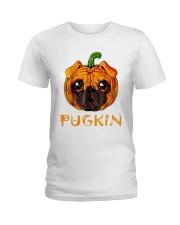Pug Kin Ladies T-Shirt thumbnail