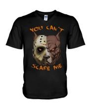 Pitbull You Can't Scare Me V-Neck T-Shirt thumbnail