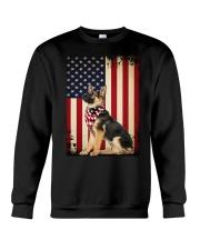 German Shepherd Flag Crewneck Sweatshirt thumbnail