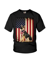 German Shepherd Flag Youth T-Shirt front